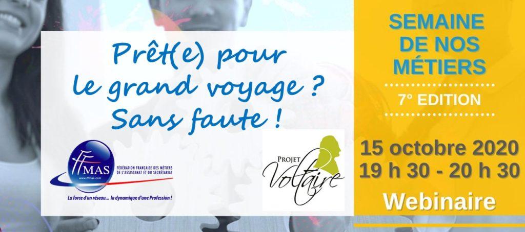 Read more about the article Dictée du Projet Voltaire | Semaine de nos métiers