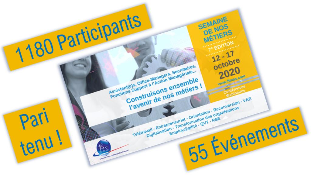 Read more about the article Semaine de nos métiers 2020 | Près de 1200 personnes accueillies, pari tenu !