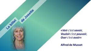 Read more about the article Le billet de Josette   Hic et nunc*