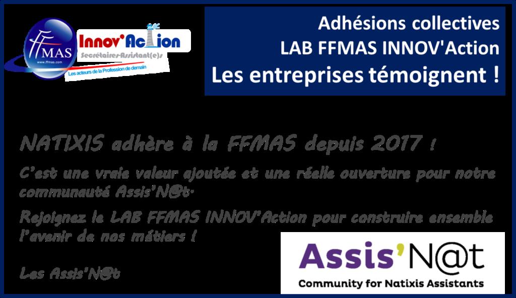 Read more about the article Adhésions collectives FFMAS INNOV'Action : les entreprises témoignent ! ZOOM sur NATIXIS