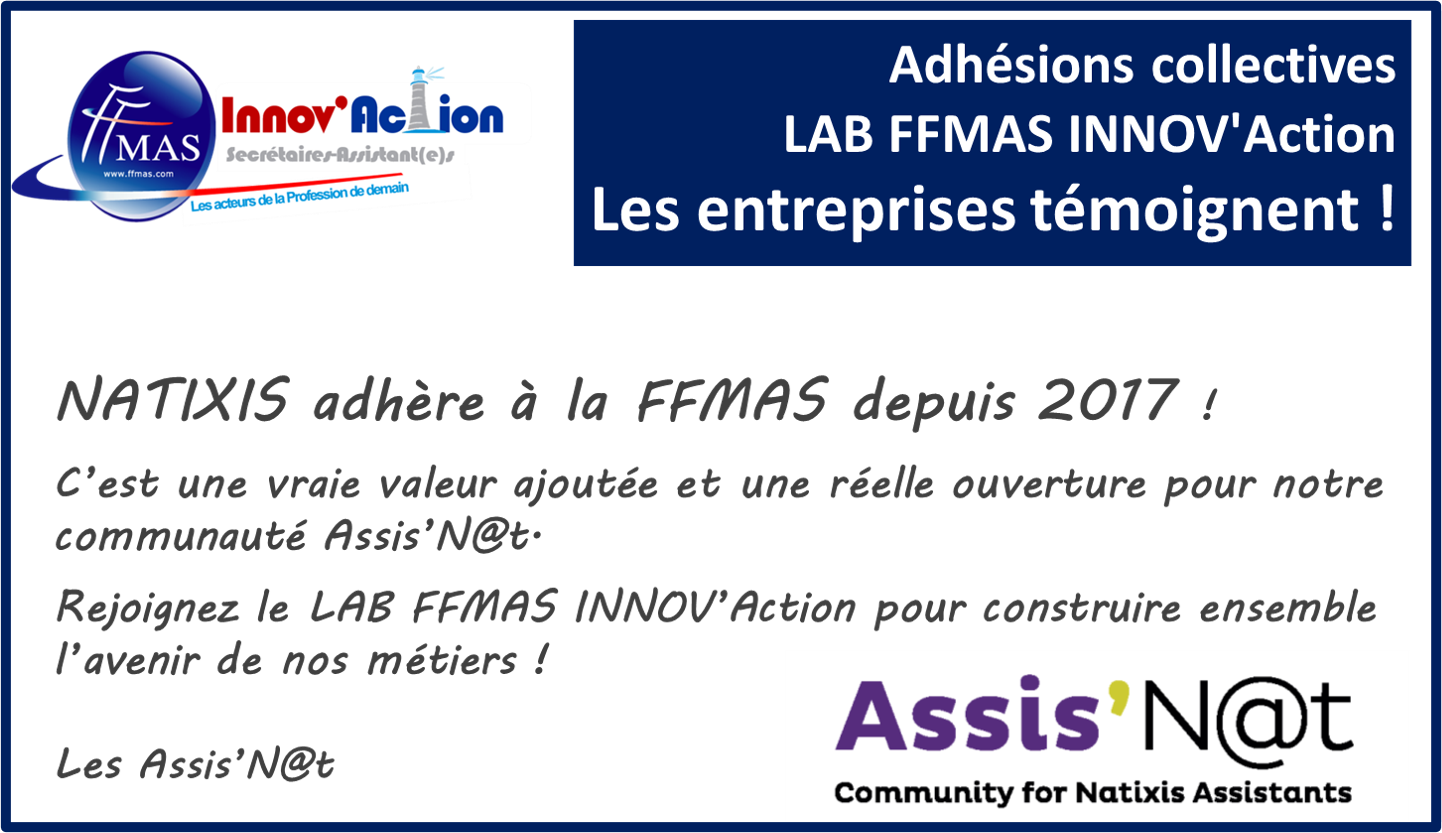 You are currently viewing Adhésions collectives FFMAS INNOV'Action : les entreprises témoignent ! ZOOM sur NATIXIS