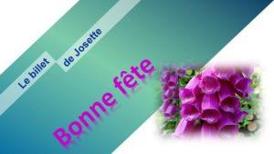 Read more about the article Le billet de Josette   Marquez les esprits ce jeudi 15 avril 2021