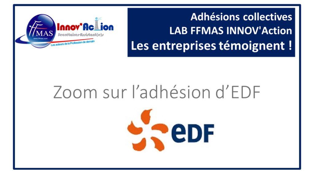 Read more about the article Adhésions collectives FFMAS INNOV'Action : les entreprises témoignent ! ZOOM sur EDF
