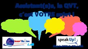 Read more about the article Assistant(e)s : la QVT, c'est VOTRE sujet ! Venez en parler le 22 juin de 13h à 14h.