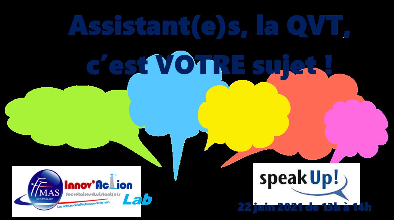 You are currently viewing Assistant(e)s : la QVT, c'est VOTRE sujet ! Venez en parler le 22 juin de 13h à 14h.