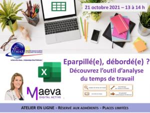Read more about the article Eparpillé(e), débordé(e) ? Découvrez l'outil d'analyse du temps de travail – Webinar 21 octobre 2021 à 13 h